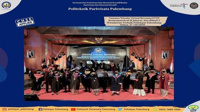 Wisuda 1 Poltek Pariwisata Palembang Diikuti 274 Mahasiswa Digelar Secara Virtual