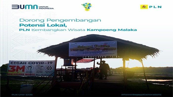 Perusahaan PT PLN membantu ekonomi masyarakat melalui Program PLN Peduli, Desa Kartamulia Kecamatan Gelumbang Kabupaten Muara Enim, telah dibantu dengan mengembangkan pariwisata di Kampoeng Malaka.