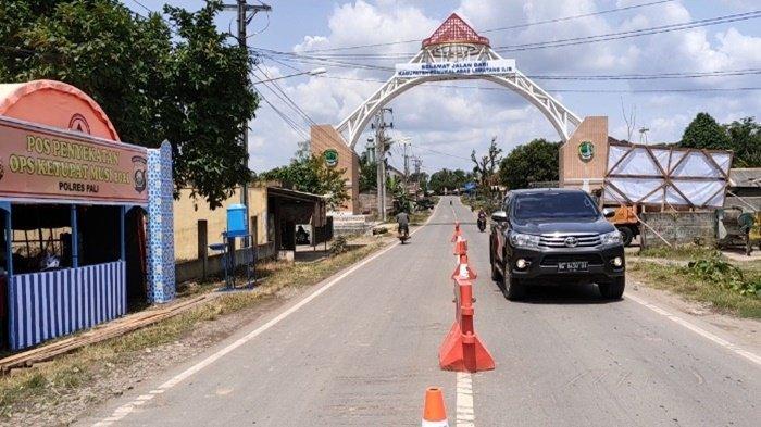 Hari Pertama Pos Penyekatan Desa Talang Bulang PALI Tampak Lengang, Sediakan Rapid Tes Antigen