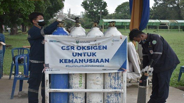 6.000 Lebih Masyarakat Peroleh Oksigen Gratis dari Pusri