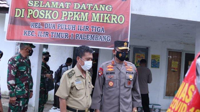 IRJEN Prof Eko Indra Heri Turun Langsung Cek Kesiapan Petugas di Sejumlah Posko PPKM Kota Palembang