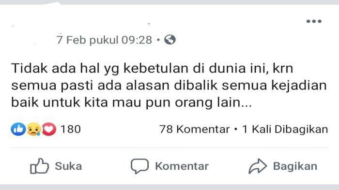 Sebelum Gantung Diri, PNS BKD OKI Ini Sempat Posting Status di Facebook, Ungkap Keresahan Hatinya