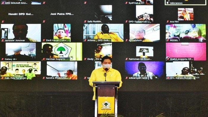 Airlangga Hartarto Minta Kader Partai Golkar Ikut Berpartisipasi Tanggulangi Covid-19
