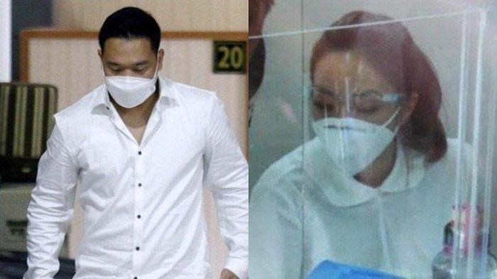 Potret MYD dan Gisella Anastasia saat jalani pemeriksaan terkait video syur di Polda Metro Jaya