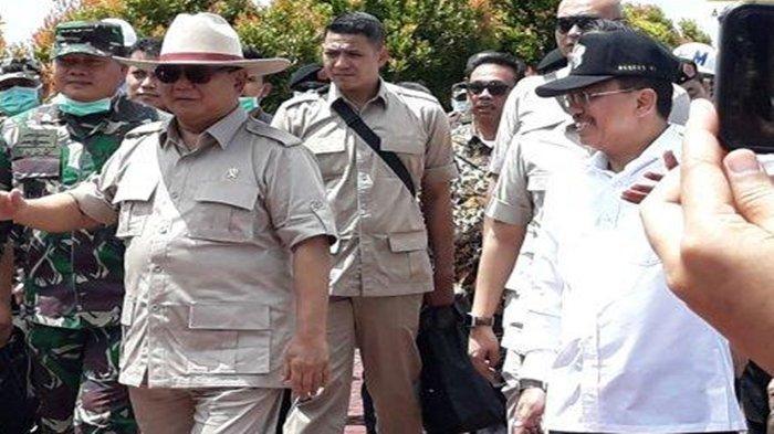Prabowo dan Terawan, Dua Mantan Jenderal TNI Ini Tanpa Pakai Masker Datang ke Natuna, Ini Aksinya!