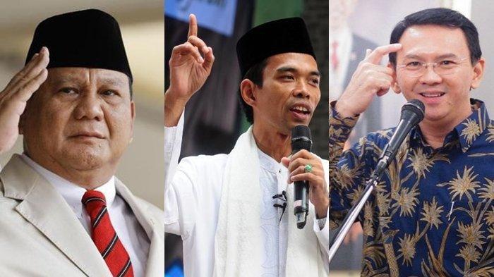 Muncul Nama Capres Baru UAS dan Risma dalam Survei LSI: Prabowo, Ganjar, Anies dan Ahok Tertinggi