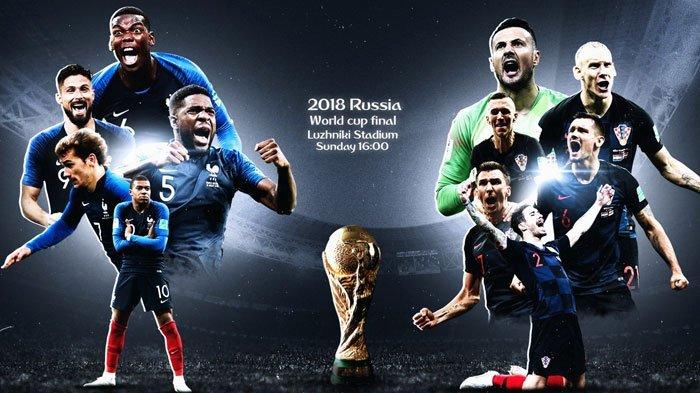 LIVE Trans TV Perancis vs Kroasia Final Piala Dunia 2018, Bisa Klik Link Ini di Ponsel