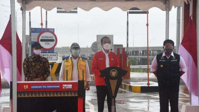 KAPOLDA Sumsel Sambut Presiden Jokowi Kunker ke Palembang, Peresmian Gerbang Jalan Tol Kramasan