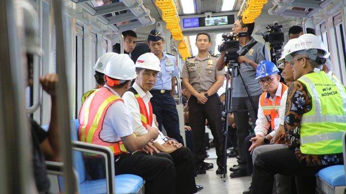 Gubernur Alex Noerdin Dampingi Presiden Jokowi Jajal LRT Sumsel
