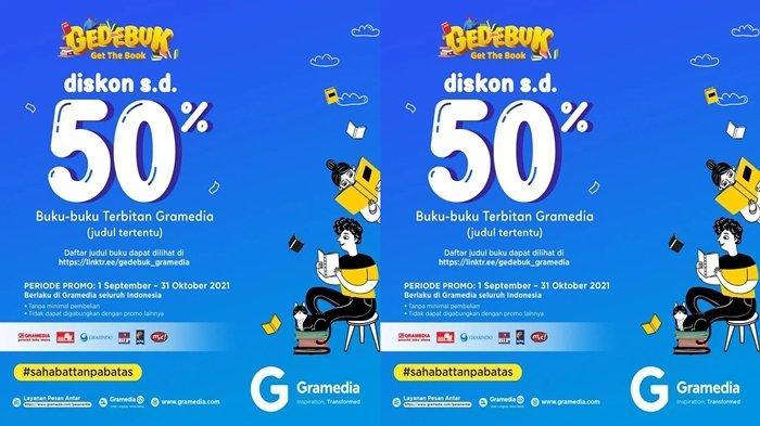 Promo Gedebuk di Gramedia World Palembang, Aneka Buku Diskon hingga 50 Persen