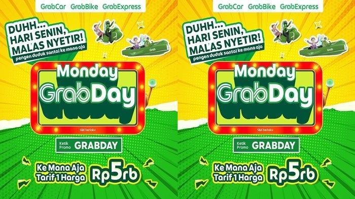 Promo Grab Pakai Grab Kemana pun di Hari Senin Cuma Bayar Rp 5 Ribu