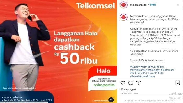 Promo Telkomsel Langganan Kartu Halo Langsung Dapat Diskon Rp50 Ribu, Berikut Cara dan Syaratnya