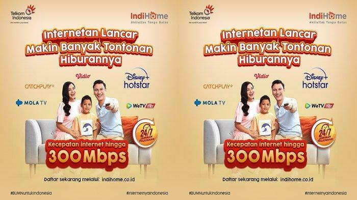 Promo Indihome Mulai Rp300 Ribuan Bisa Internetan, Telepon dan Nonton