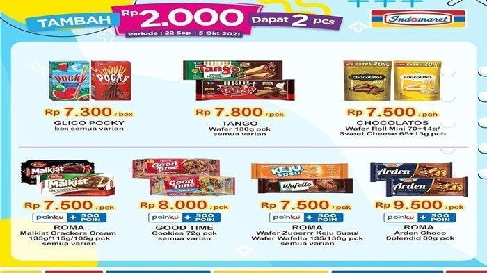 Promo Indomaret Hari Ini, Tambah Rp 2.000 Langsung Dapat Dua Produk