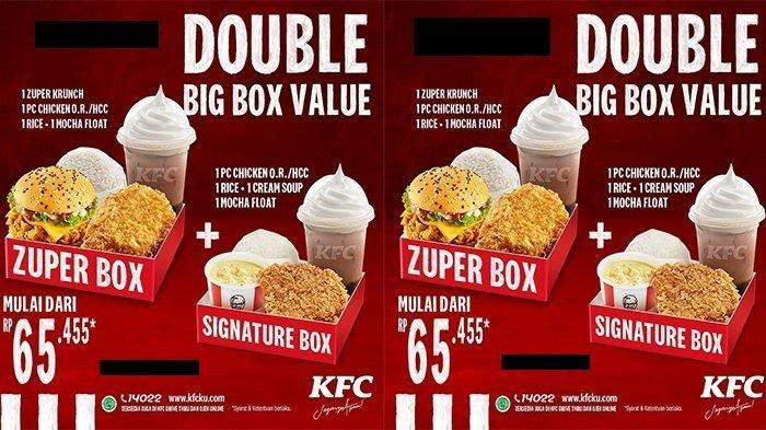Promo Spesial KFC di Natal & Tahun Baru, Double Big Box Value Rp 65.455 Ini Syarat & Ketentuan