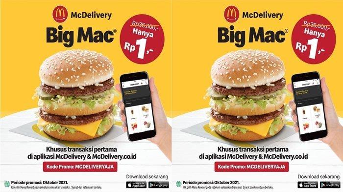 Promo McDonald's Burger Big Mab Hanya Rp1 Saja, Begini Cara Mendapatkan Menu Super Hemat McDonalds