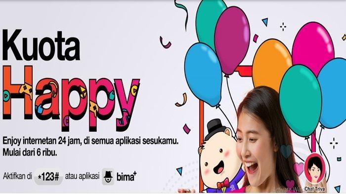 Promo Kartu Tri Paket Internet Kartu Perdana Happy dan UL Mulai Rp15 Ribu