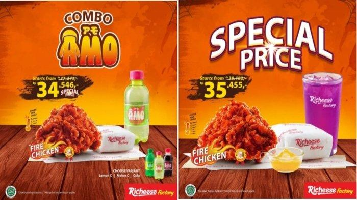 Promo Richeese Factory 3 Oktober 2021, Paket Nasi Ayam Plus Minuman Mulai Rp 35 Ribuan