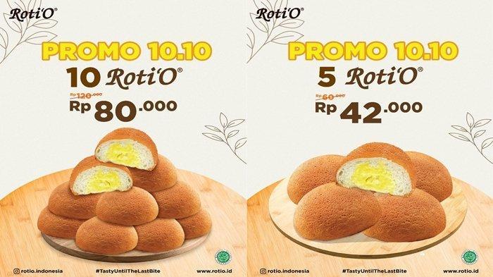 Promo Roti'O di Momen 10.10, Beli 10 Roti Hanya Rp80 Ribu, Bisa Pesan via Online