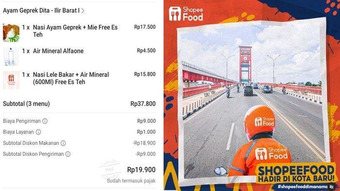 Promo Shopee Food Beli Makanan Diskon 50 Persen Plus Bebas Ongkir, Cek Disini Cara dan Syaratnya