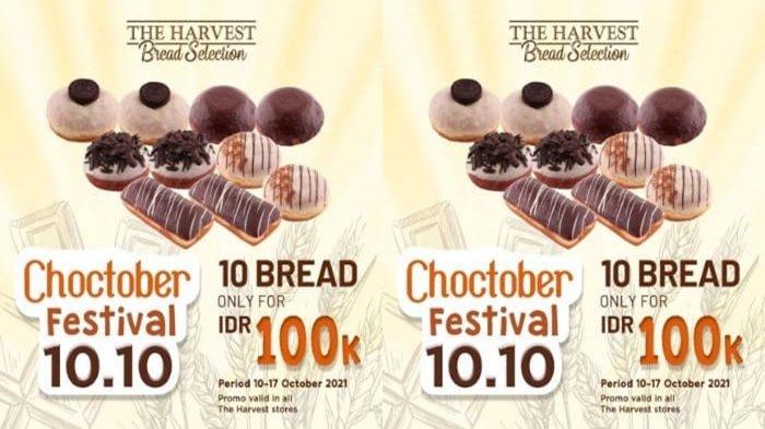 Promo The Harvest Lewat Promo 10.10 Mulai 10 hingga 17 Oktober 2021, 10 Roti Hanya Rp 100 Ribu