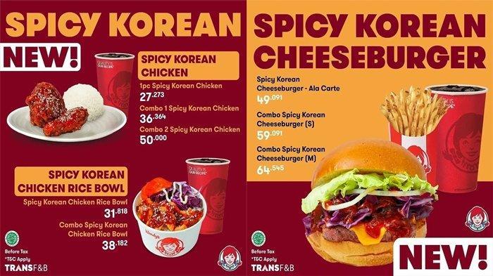 Promo Wendy's Aneka Menu ala Korea Dihargai Mulai Rp30 Ribuan, Cek Ini Promo Lainnya