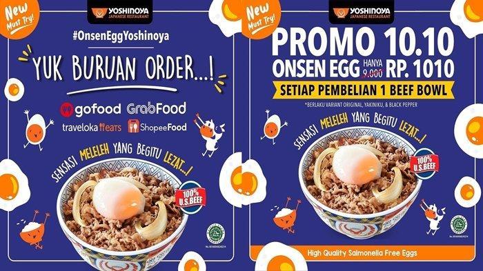 Promo Restoran Yoshinoya 10.10, Telur Favorit Hanya Rp1.010, Jangan Sampai Terlewatkan!