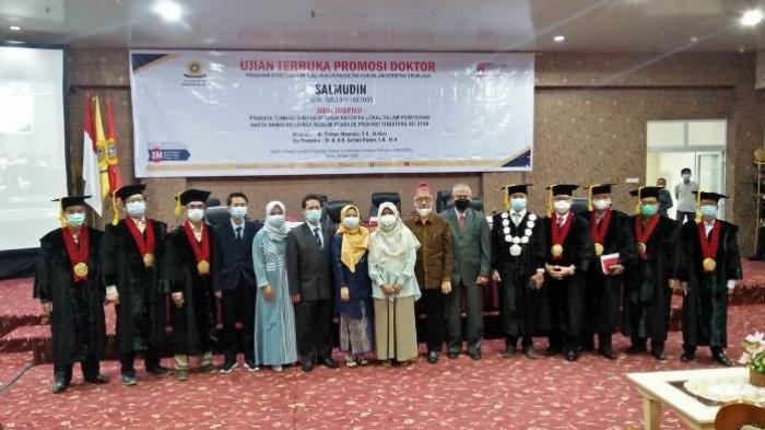 Ketua JPM Sumsel Hadiri Promosi Doktor Salmudin,Dosen Sekolah Tinggi Ilmu Hukum Serasan Muaraenim