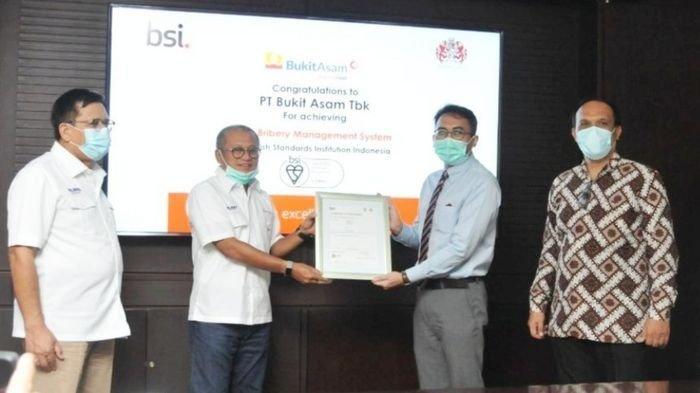 PTBA Jadi BUMN Tambang Pertama Kantongi Sertifikat Anti Penyuapan ISO 370001: 2016