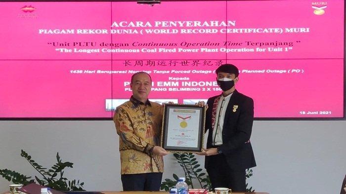 PT GH EMM Indonesia Raih Rekor Dunia, Waktu Operasi Terpanjang 1438 Hari Nonstop