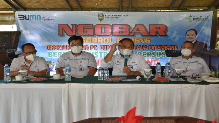 Dukung Pertanian di Lampung, Direksi PT Pusri Ngobrol Bareng Distributor NPK Subsidi