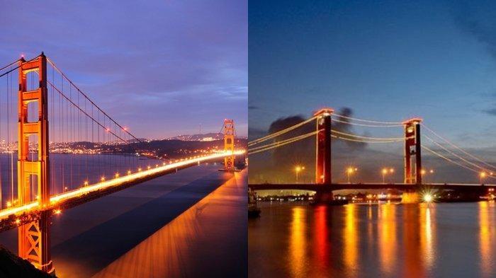 Ada Jembatan Ampera Palembang, 5 Tempat Wisata Indonesia Ini Mirip dengan Destinasi Negara lain