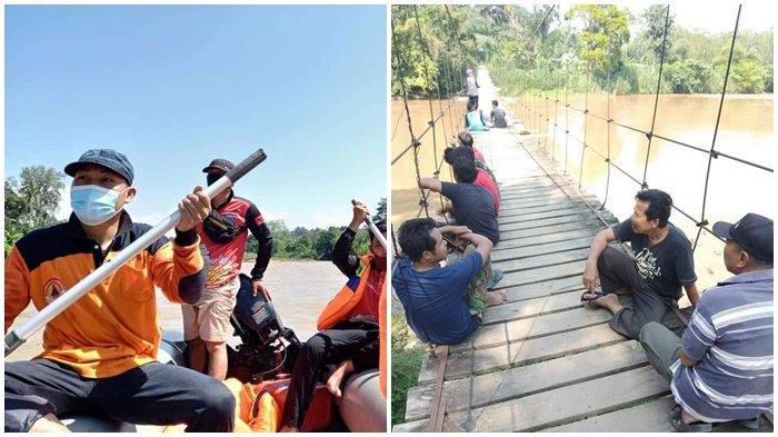 Sungai Saka di OKU Selatan Meluap, Hantam Rakit Bambu, Seorang Warga Hilang Tenggelam
