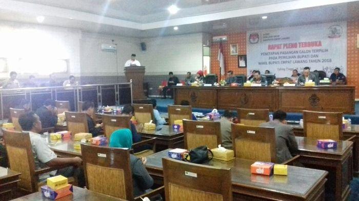 KPUD Empatlawang Tetapkan Joncik Muhammad dan Yulius Maulana Pemenang Pilkada 2018