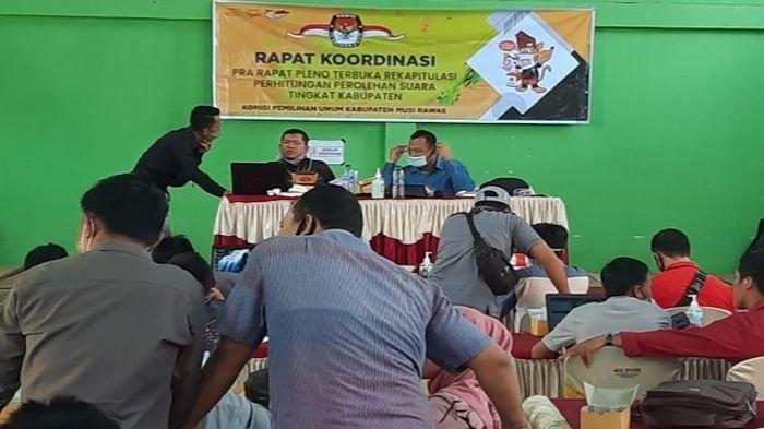KPU Musirawas Gelar Rakor Persiapan Pleno Rekapitulasi Tingkat Kabupaten dengan Seluruh PPK