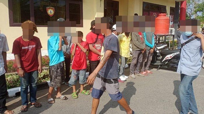 22 Pria di Pasar 16 Ilir dan Monpera Terjaring Razia Preman Polrestabes Palembang, Diduga Jukir Liar