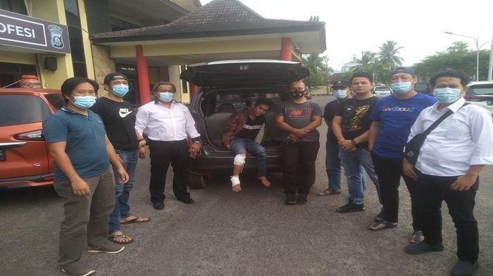 Sempat Buron Dalang Penodongan Diatas Ampera, Renaldi Dipelor Petugas Pidum Polrestabes Palembang