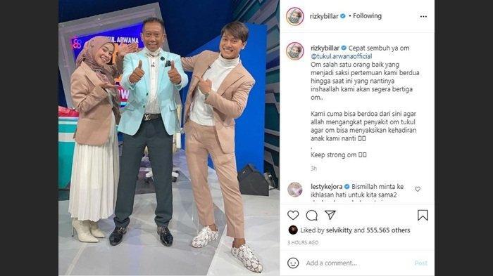 Rizky Billar harapkan kesembuhan Tukul Arwana, Kamis (23/9/2021)