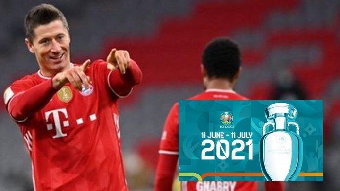 Robert Lewandowski, striker cerdas andalan Polandia yang bermain di Bayern Munchen, Robert dkk diprediksi berbicara di Piala Eropa 2021