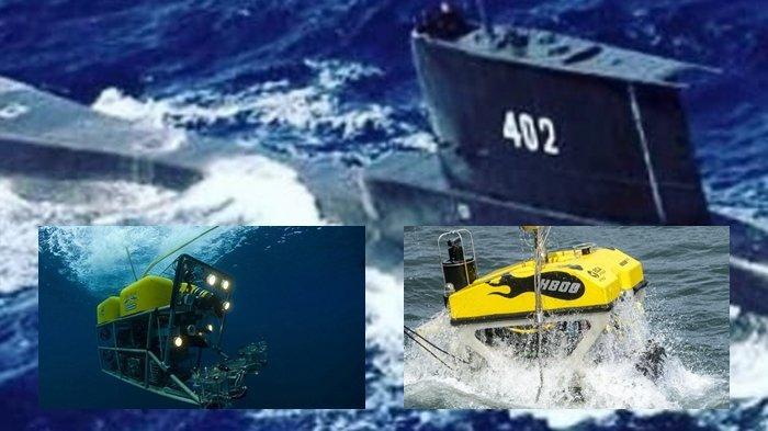 Penampakan Robot Bawah Laut Keroyokan Angkat KRI Nanggala 402 di Kedalaman 840 Meter Laut Bali