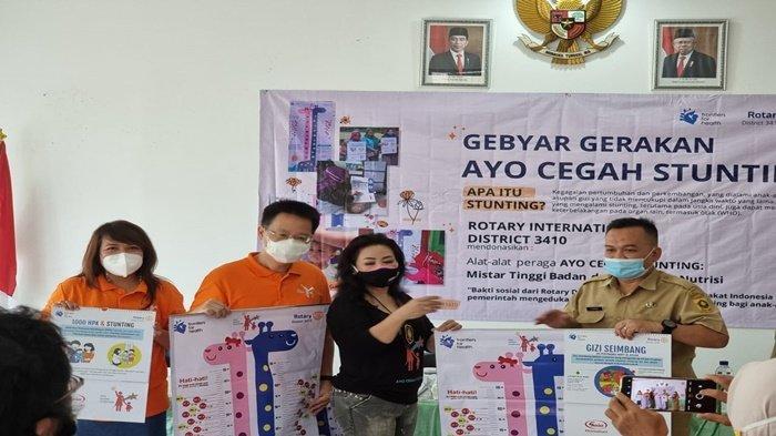 Rotary Club Jakarta Sunter Centennial Gelar Gerakan Ayo Cegah Stunting di Cijeruk Bogor