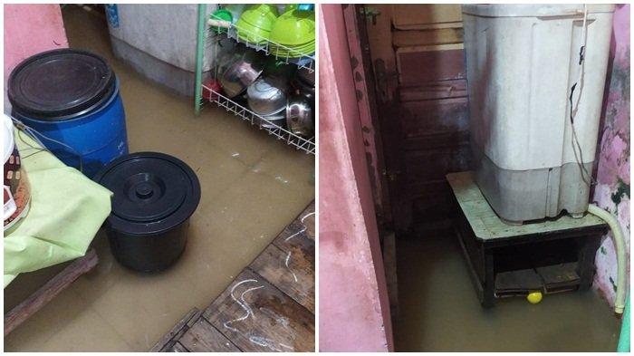 Rumah Dikepung Banjir, Warga Kelurahan Pahlawan Palembang Ini Bingung Selamatkan Perabot Rumah