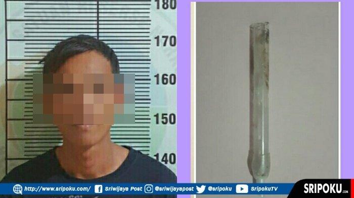 Pria di Ogan Ilir Kepergok Buang Pirek dari Kaca Mobil, Dilihat Petugas ada Sisa Narkoba Sabu-sabu
