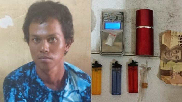 Zali Kompak Nyabu Bersama Istri, Pasutri Asal Indralaya Tengah Malam Bawa Narkoba di Jalan Sayangan