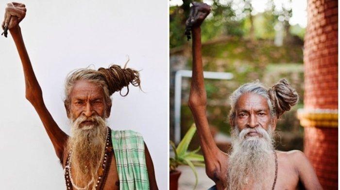 Sosok Sadhu Amar Bharati, Pria Tua yang Angkat Tangan Kanannya Selama 48 Tahun, Ini Tujuannya!