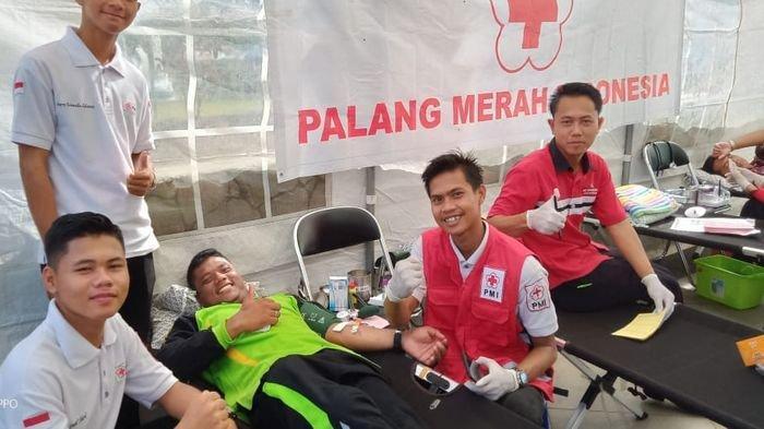 Sahabat Donor Lakukan Donor Darah  Kerjasama dengan PMI Banyuasin,Targetkan 100 kantong Darah