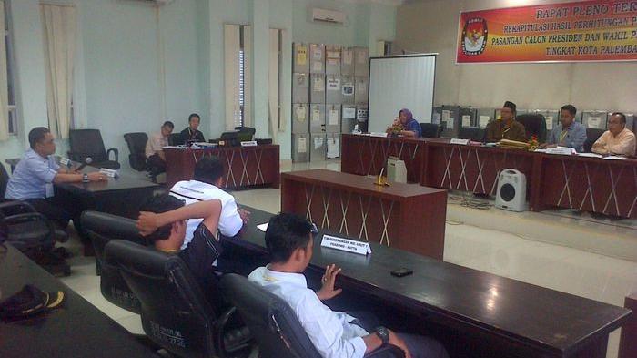 Pleno Rekapitulasi KPU Palembang Diskor Hingga Kamis
