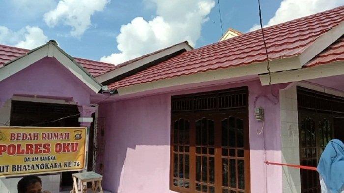 Salah satu rumah warga yang mendapat rehab oleh Polres OKU