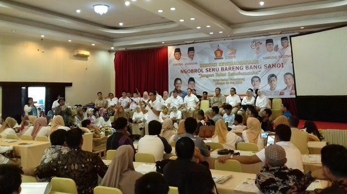 Tak Kalah dengan Prabowo, Sandi Uno Doakan Aswari-Irwansyah Menangi Pilgub Sumsel
