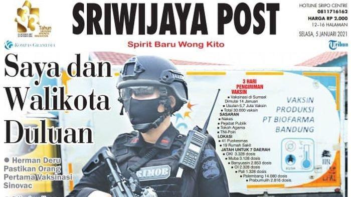 Sriwijaya Post edisi Selasa (5 Januari 2021); Saya dan Walikota Duluan